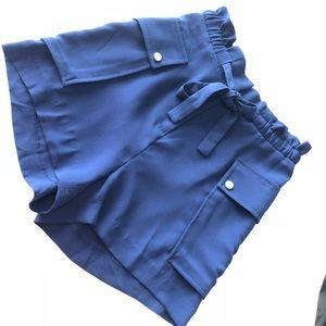 Royal Blue High Waisted Shorts